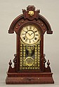 Wm. L. Gilbert walnut mantel clock