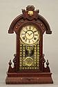 Wm. L. Gilbert walnut mantel clock