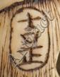 An Ivory netsuke of a samurai.