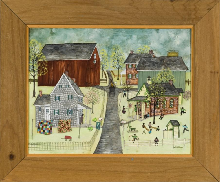 Dolores Hackenberger (Am b.1930) Amish Village.