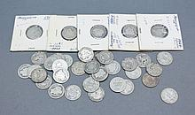 A lot of Barber Dimes. A lot of 37 Barber Dimes. 1899-S, 2 1916-S, 1905-O, 1902-D, 1909-D, 1911-D, and 3 1912-D.