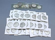 A lot of Kennedy Half Dollar Coins A lot of 49 Kennedy half dollar coins. Pre-1964.