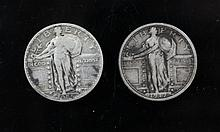 1917 and 1925 Standing Liberty Quarter 1917 and 1925 Standing Liberty Quarters.