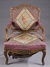 Aubusson upholstered armchair.