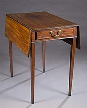 George III inlaid mahogany Pembroke table.