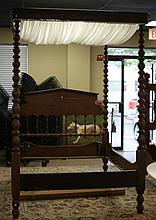 Late 19th century plantation bed.