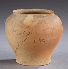 George Ohr, small bisque vase.