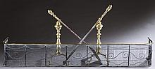 Andirons with turned design.