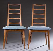 Group of 6 Niels Koefoed Danish ladderback chairs.