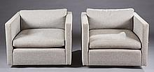 Pair of Charles Pfister Knoll club chairs.