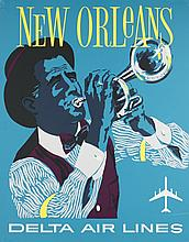 David Klein Poster of New Orleans for Delta.
