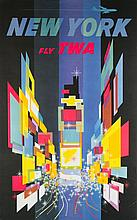 David Klein Poster of New York CIty for TWA