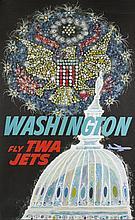David Klein Poster of Washington DC for TWA.