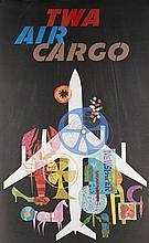 David Klein Poster for TWA  Air Cargo, c. 1960.