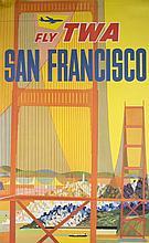 2 David Klein Posters: San Francisco & LA.