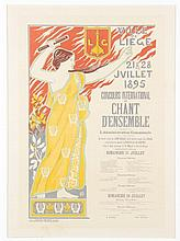 3 French lithographs, c.1900.