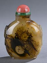 Chinese silhouette agate snuff bottle