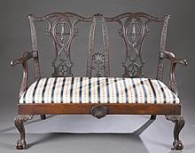 Chippendale Revival Settee
