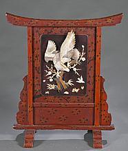 Asian Wooden Screen.