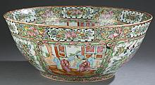Rose medallion Chinese export punch bowl.