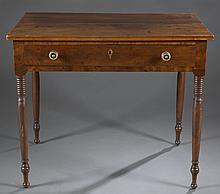 Virginian late Sheraton writing table, c.1800.