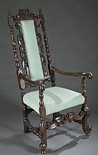 William & Mary style armchair, 18th century.