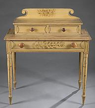 Country painted ladies dressing table, 19th c.