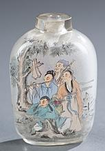 Pair of Chinese glass snuff bottles.