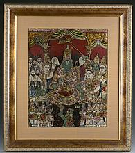 Tanjore painted panel, late 19th c.