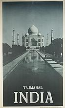 Group of 8 Indian travel posters, mid-20th c.
