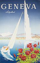 Geneva travel poster, W. Mahrer.
