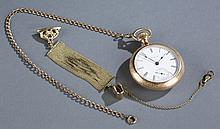 Gold plated Elgin pocket watch.