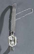 Omega 14kt white gold 17jewel ladies wrist watch