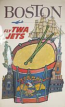 David Klein Poster of Boston for TWA.