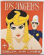 2 David Klein posters for Delta Air Lines.