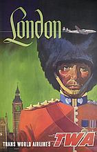 TWA Poster, London. c.1960.