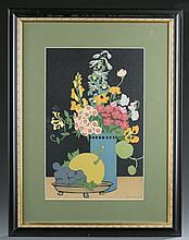 British Art Deco woodblock, John Hall Thorpe 20thc
