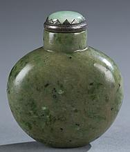 Chinese spinach jade snuff bottle.