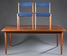 Danish teak dining table & 6 Fritz Hansen chairs.