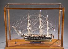 Ship model of the U.S.S. Constitution.