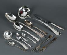 73 pcs Mappin & Webb silverplate flatware service.