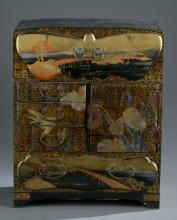 Japanese lacquer jewelry cabinet.