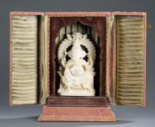 Indian portable shrine of Ganesha.