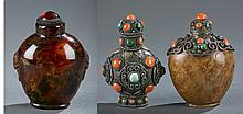 Group of 3 Chinese snuff bottles.