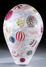 Large studio art glass vase by Anthony Corradetti.