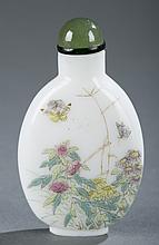 A Chinese painted glass snuff bottle.