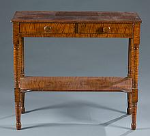 A faux painted pine side table, 19th century.