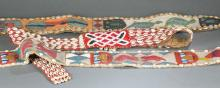 3 Beaded African belts. 20th century.
