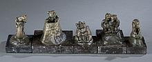 Group of 5 Edwin Willard Deming bronzes.
