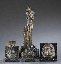 Group of 3 Edwin Willard Deming bronzes.
